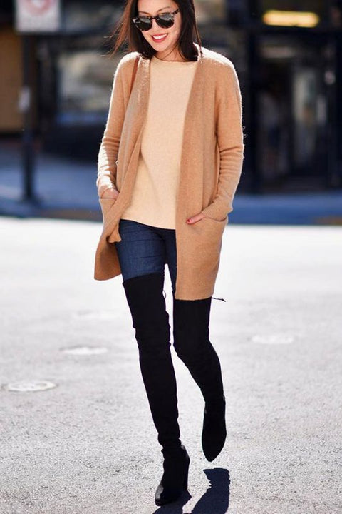 Oversized cardigan outfits Skinny jeans