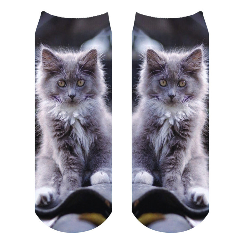 Fluffy kitty ankle socks (Soft Cotton)