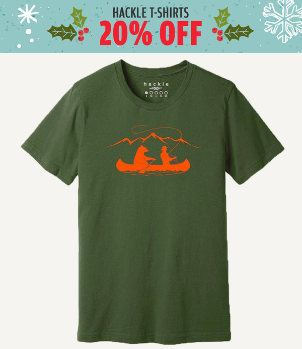 Hackle Canoe T-shirt - 20% off