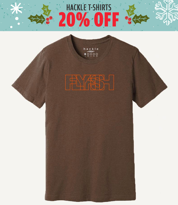 HACKLE FLYFISH T-SHIRT - 20% off