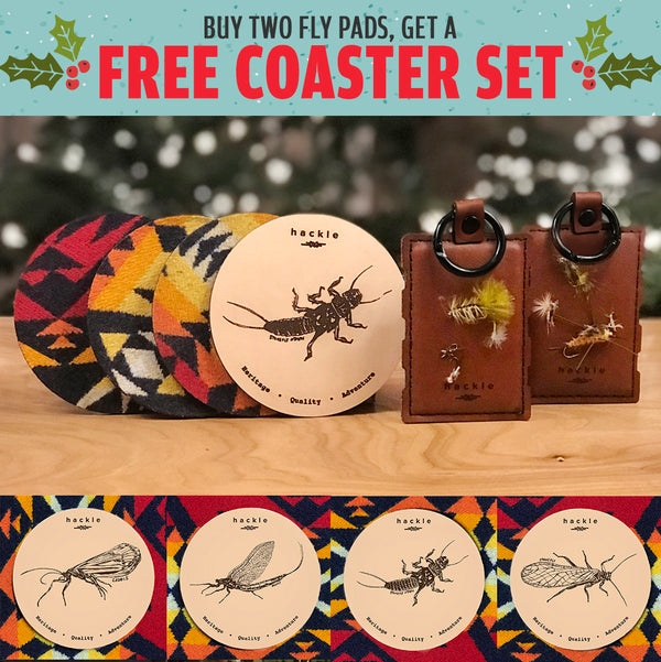Buy Two Fly Pads Get a Coaster Set Free - Bundle