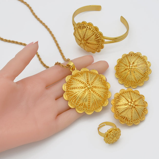 Ethiopian Jewelry sets Pendant Necklaces