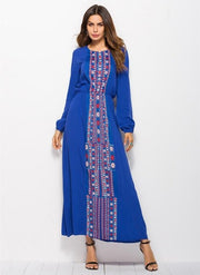 Ethnic Long Sleeve Maxi