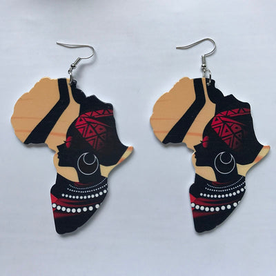 Africa Map Earrings