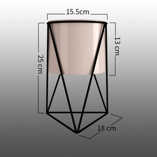 Geometric Metal Flower Pot