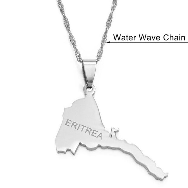 Map Pendant Necklaces