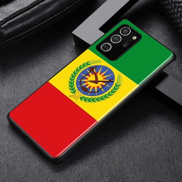 Ethiopia National Flag Theme For Samsung Galaxy Note 20 10 9 8 S20 FE Ultra Plus 9 8 S10E S10 5G S9 S8 S7 Plus Phone Case