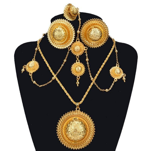 Ethiopian Bridal Pure Gold Jewelry Sets