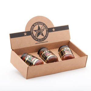 Jimmy O's Texas Salsa Gift Box, any three salsas.