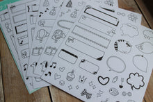 Stickers mensajes blanco y negro. - Pretty Things Store
