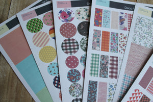 Set de 6 láminas de stickers diseño Floral. - Pretty Things Store