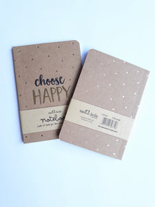 Mini libreta, Gold - Pretty Things Store