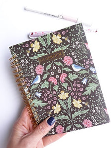 Cuaderno de anillas, Vintage Floral - Pretty Things Store