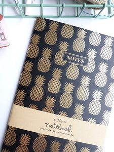 Libreta, Piña dorada - Pretty Things Store