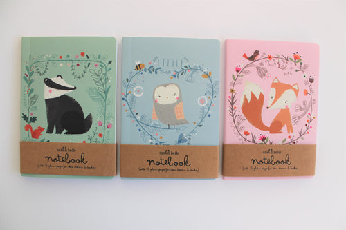 Libreta pocket, animalitos del bosque - Pretty Things Store