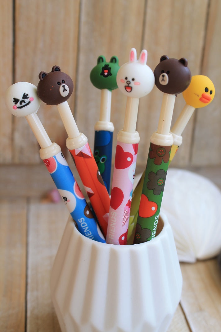 Boli divertido kawaii con cabeza de goma y punta fina- Pretty Things Store
