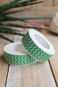 Washi tape, Chevron verde - Pretty Things Store
