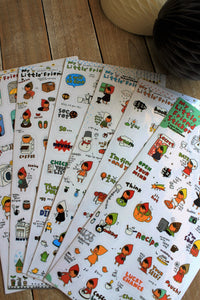 Set 6 láminas de stickers Litle Friend. - Pretty Things Store