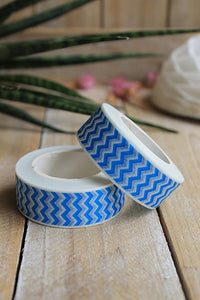 Washi tape, Chevron azul - Pretty Things Store