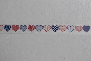 Washi tape, corazones - Pretty Things Store