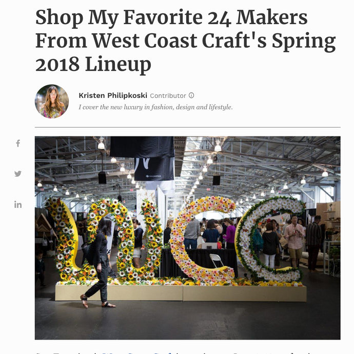 Forbes: Shop My Favorite 24 Makers From West Coast Craft