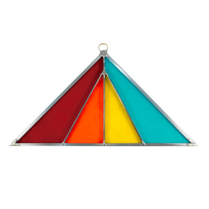 Triangle Stained Glass Suncatcher - Modern