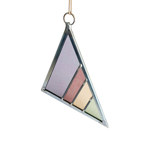Stained Glass Triangle - Violet
