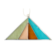 Triangle Stained Glass Suncatcher - Sea