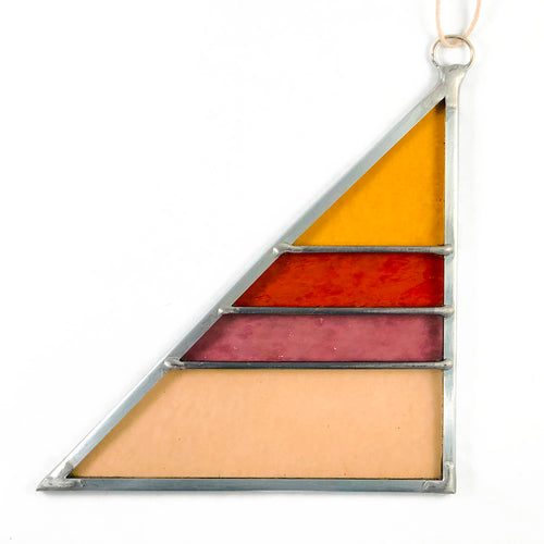 Stained Glass Triangle - Summer