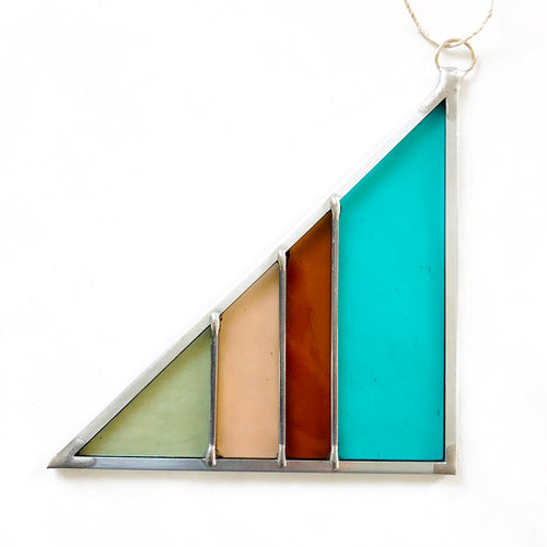 Stained Glass Triangle - Sea