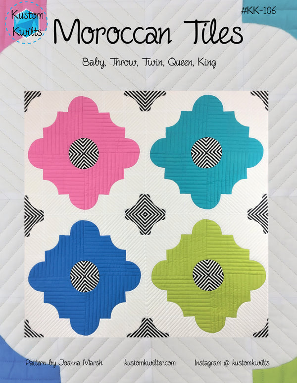 Moroccan Tiles Pattern - hard copy (not PDF)