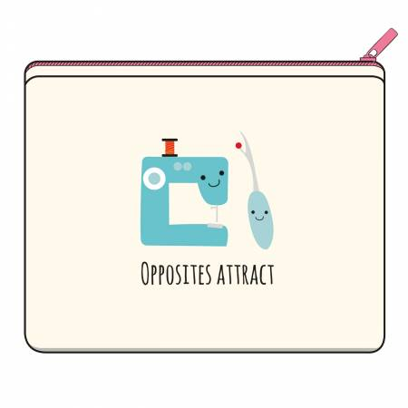 Opposites Attract canvas zipper bag