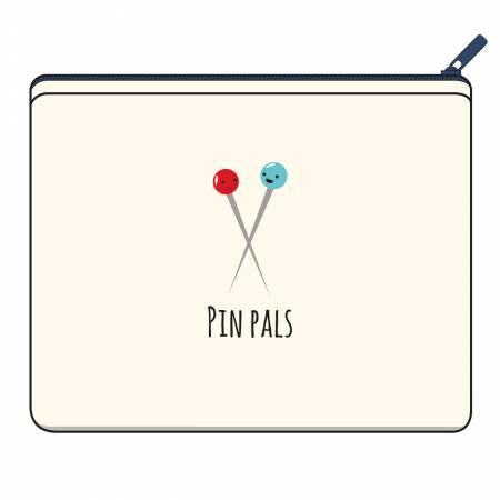 Pin Pals canvas zipper bag