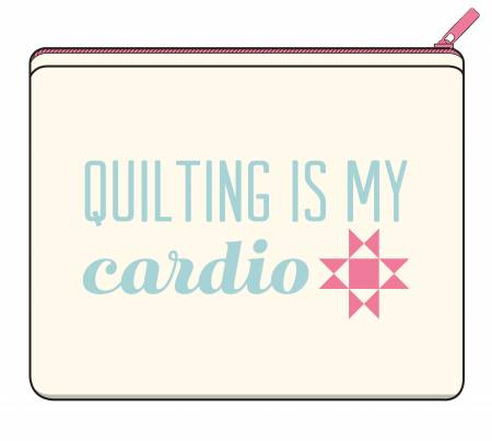 Quilting is My Cardio Zipper Canvas Bag