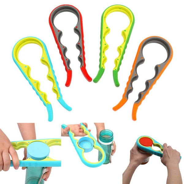 4 In 1 Gourd Shape Jar Lid Bottle Cap Opener Kitchen Accessories
