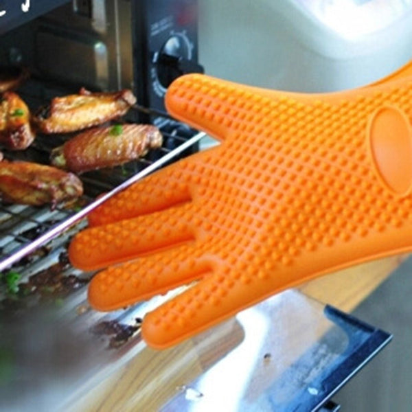 Slip and Heat Resistant Silicone Oven Glove