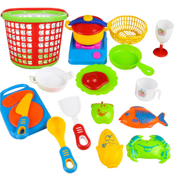 35 piece Plastic Kitchen Toys for Girls and Boys