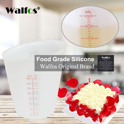 WALFOS high quality food grade 500ml Flexible Silicone Measuring Cups