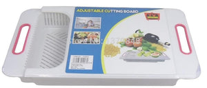 2 IN 1  Adjustable Cutting Board with Drawer and Sieve