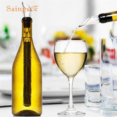 3-in-1 Stainless Steel Wine Cooler With  Pourer