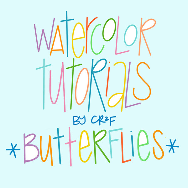 Butterflies Watercolor Tutorial