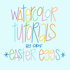 Easter Eggs Watercolor Tutorial