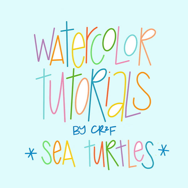 Sea Turtle Watercolor Tutorials by CR2F