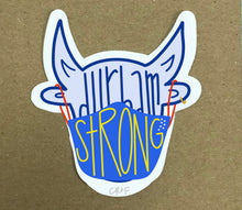 Durham Strong Sticker - Bull with Mask - CR2F
