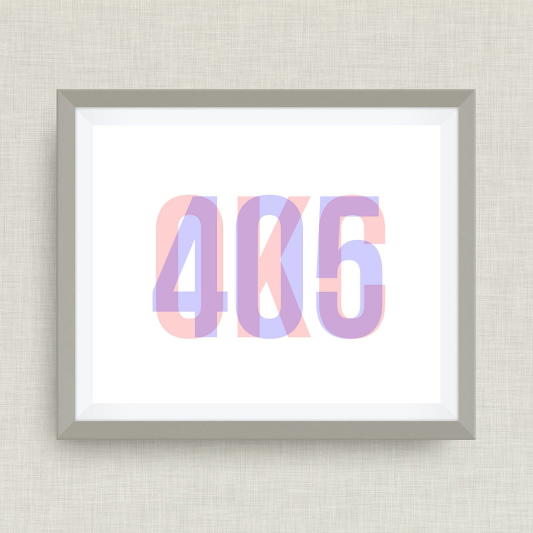 OKC - 405, Oklahoma Art Print, option of Gold Foil Print