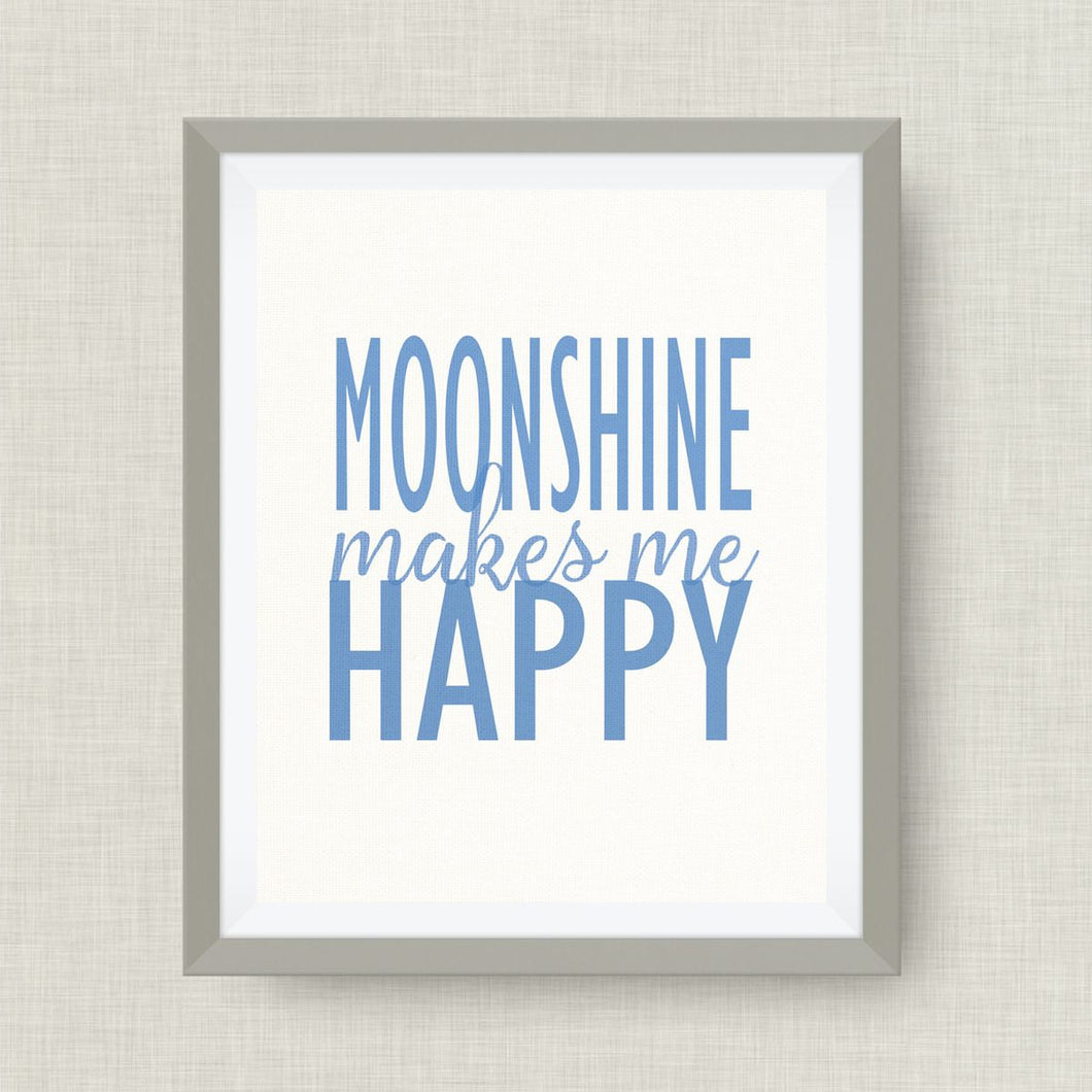moonshine makes me happy, Option of Real Gold Foil
