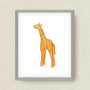 Giraffe Art Print - Custom Nursery Art