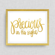 precious in His sight. - option of Gold Foil