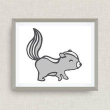 Skunk Art Print - Custom Nursery Art