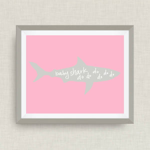 Baby Shark - Custom Nursery Art - Pick your colors!
